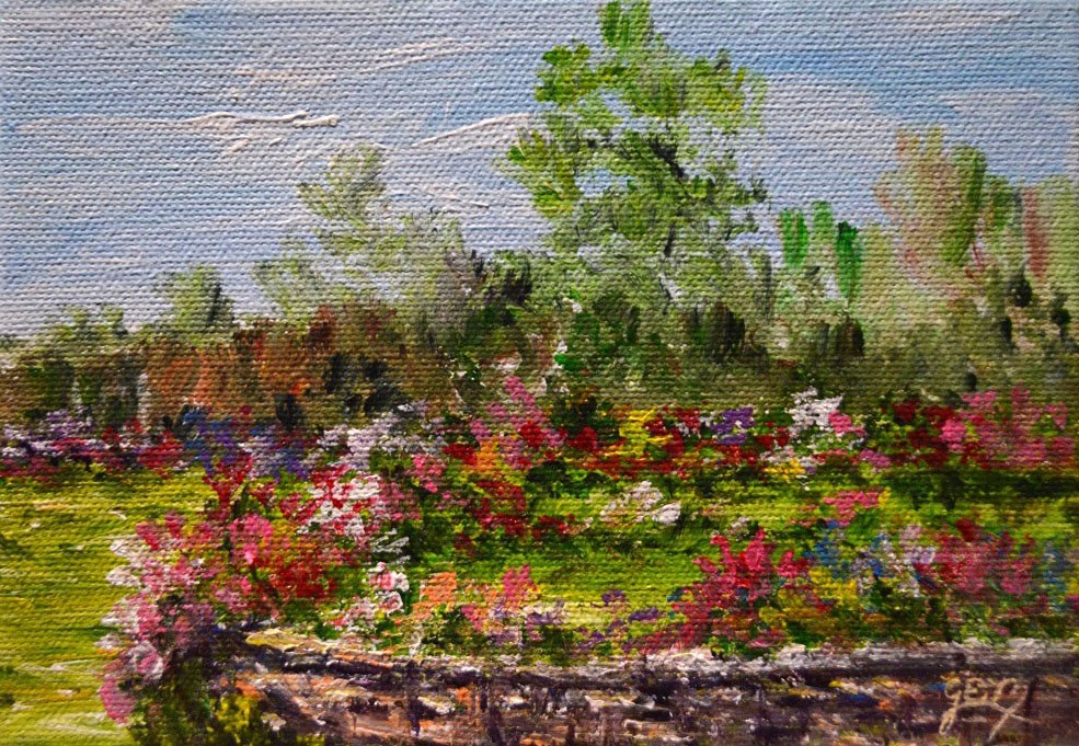 """SALE!!!Susan's Garden"" original fine art by Gloria Ester"