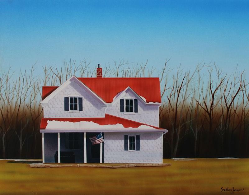 """House Near Highway 50"" original fine art by Fred Schollmeyer"