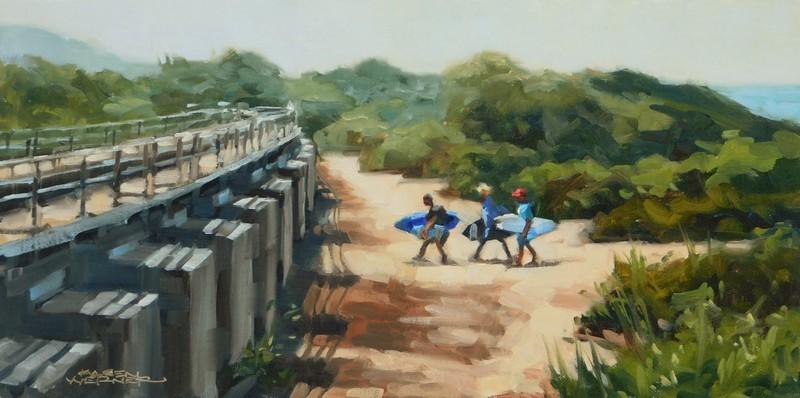 """""""Trestles"""" original fine art by Karen Werner"""