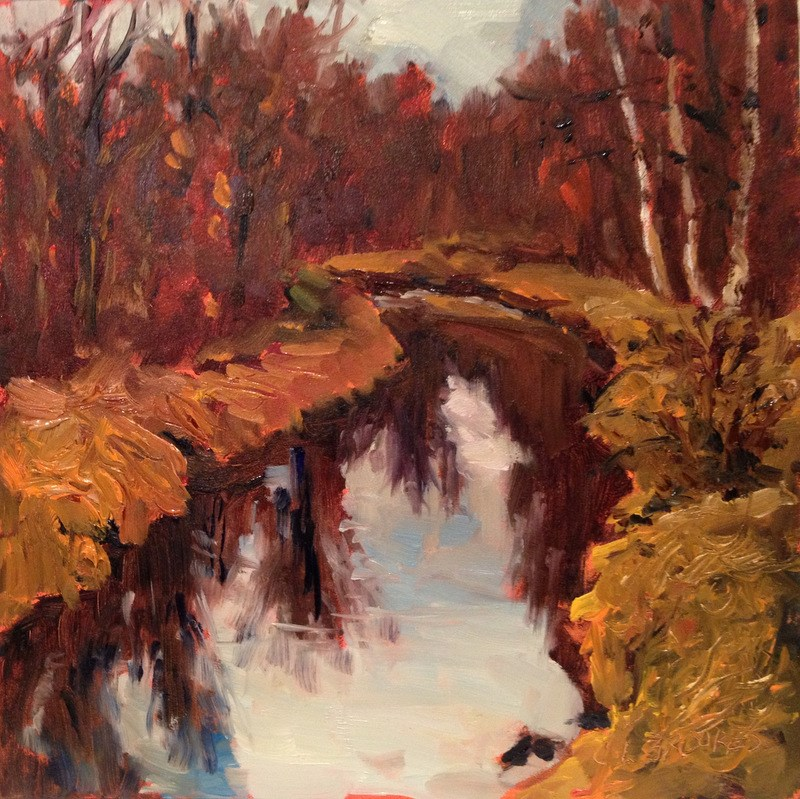 """From Pocock Road Bridge, Day 32"" original fine art by Claudia L Brookes"