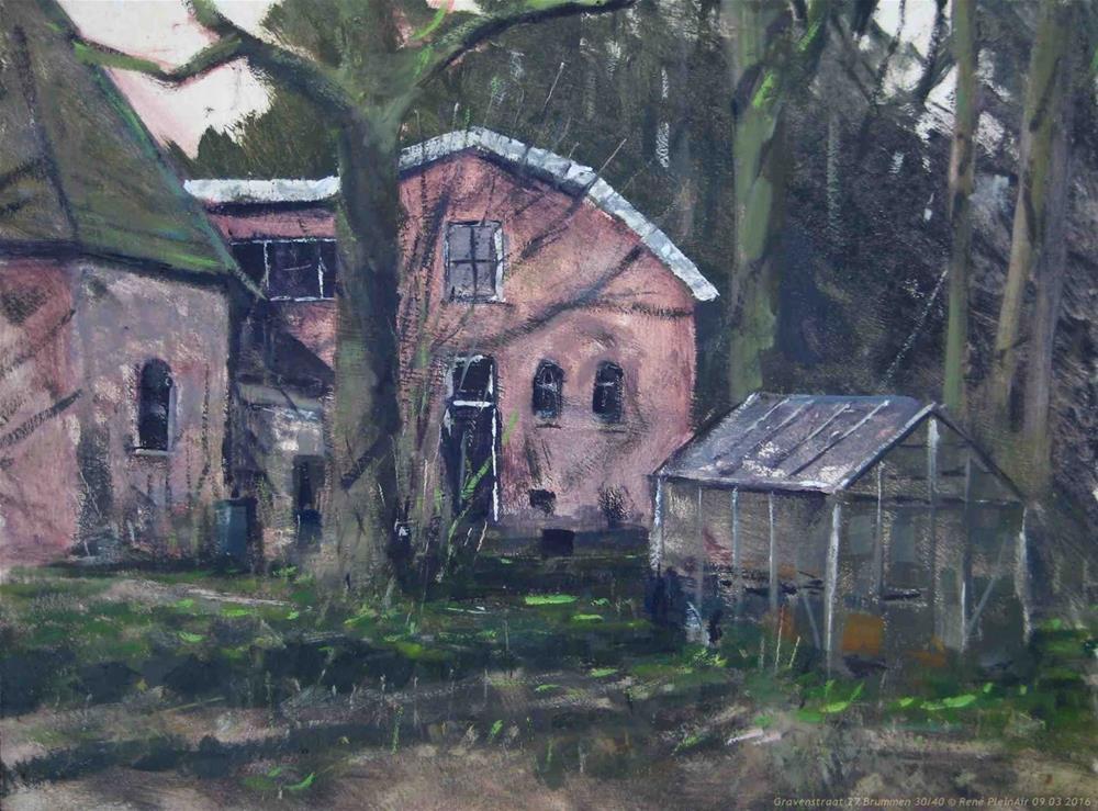 """Gravenstraat 27 Brummen, The Netherlands."" original fine art by René PleinAir"