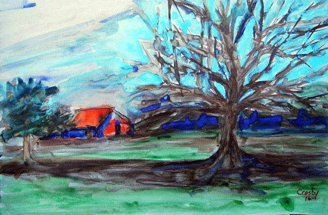 """Highway Still Life"" original fine art by Donna Crosby"