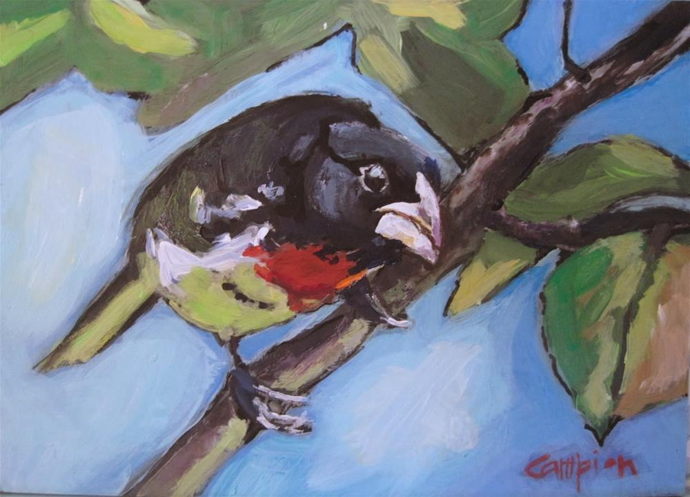 """""""242. On the Lookout"""" original fine art by Diane Campion"""