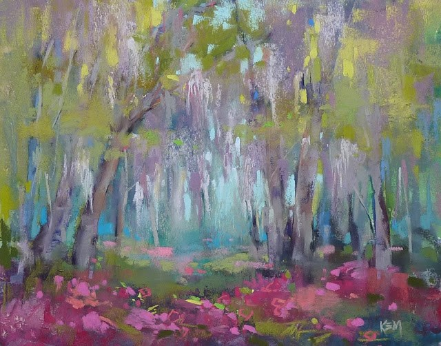 """A Surprising Watercolor Underpainting"" original fine art by Karen Margulis"