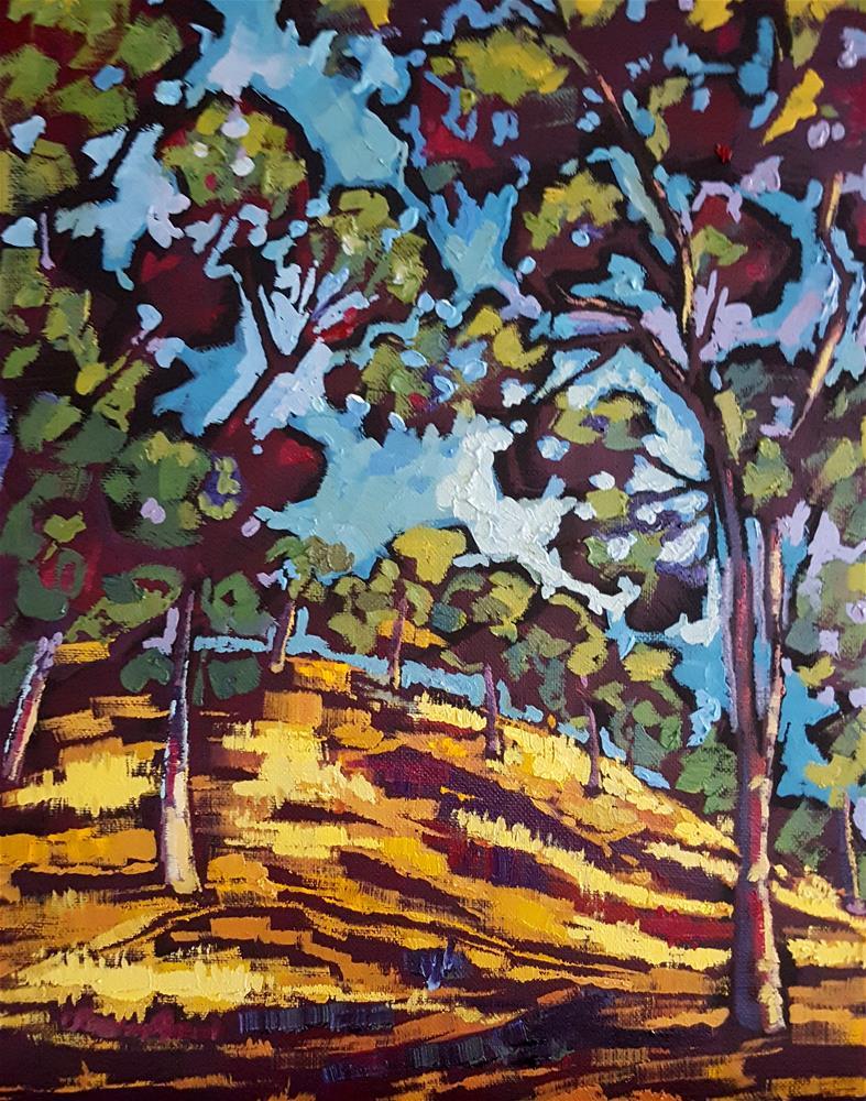 """Berryessa Peak"" original fine art by Bhavna Misra"