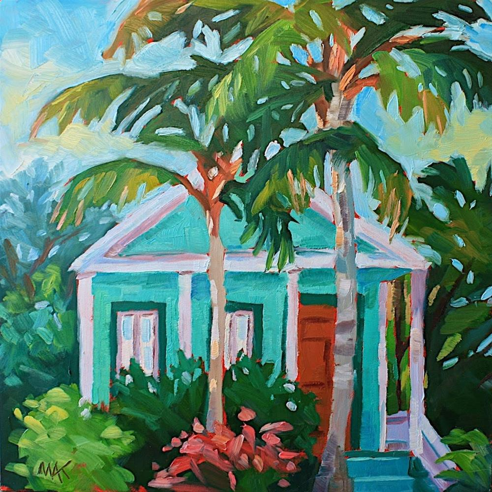 """""""Key West Green House"""" original fine art by Mary Anne Cary"""