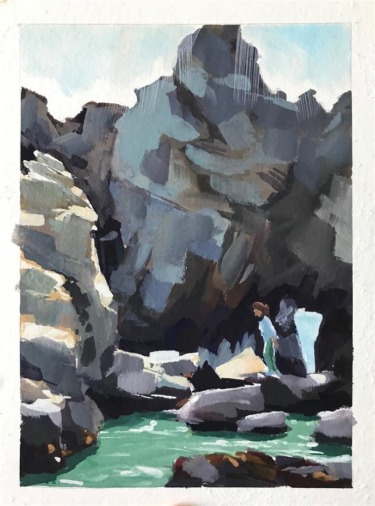"""Pfeiffer Beach Rocks II"" original fine art by Sharon Schock"