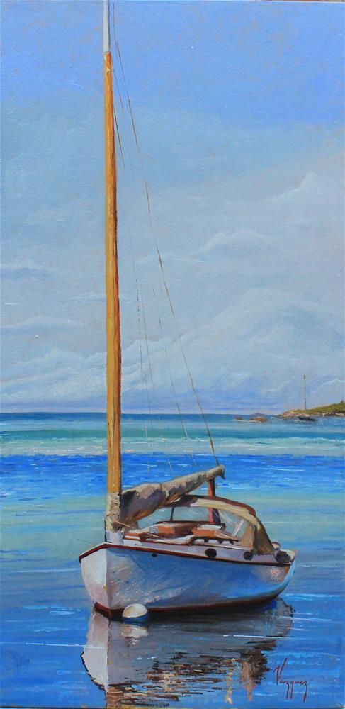 """yacht boat "" original fine art by Marco Vazquez"