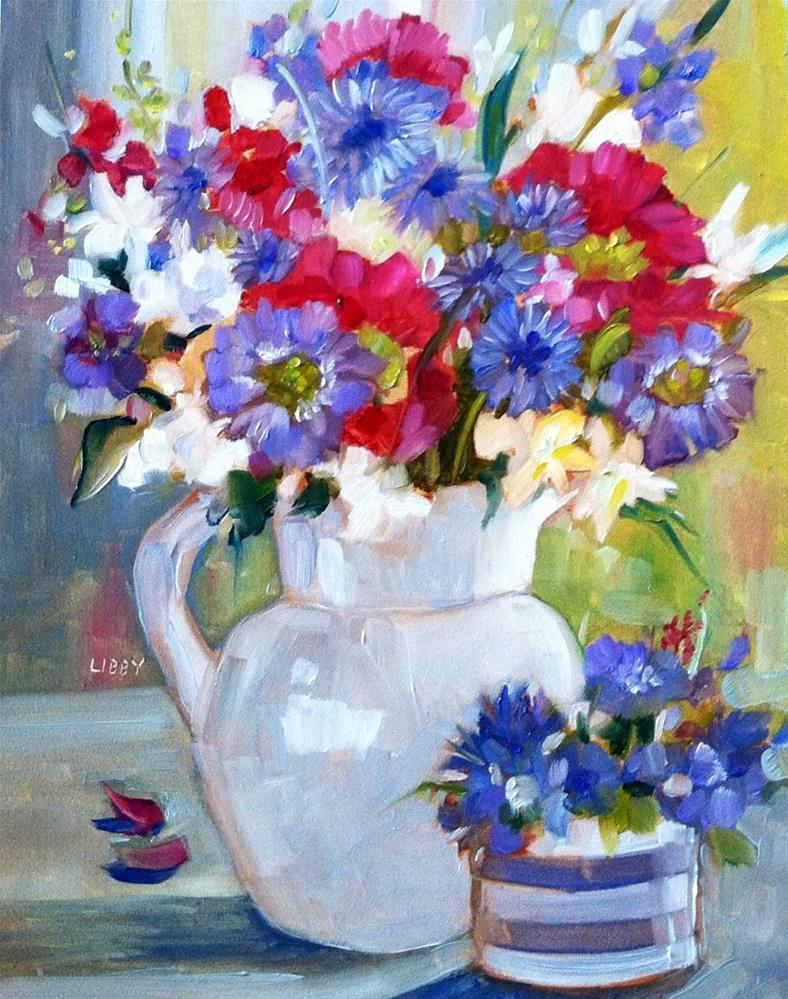 """""""Perfect Pitcher"""" original fine art by Libby Anderson"""