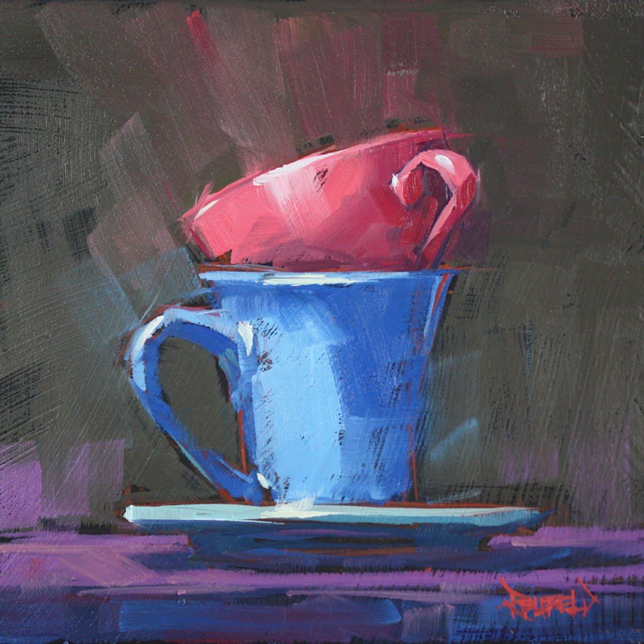 """Short Stack - sold"" original fine art by Cathleen Rehfeld"