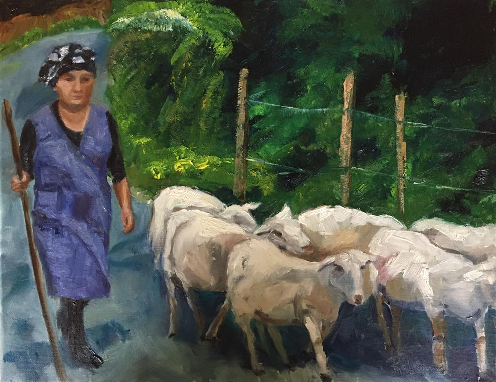 """Inspired by the Camino #7, The Shepardess"" original fine art by Renee Robison"
