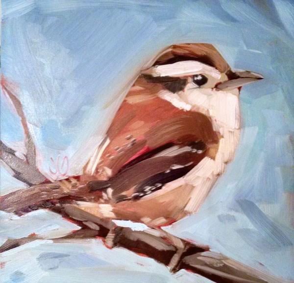 """Carolina Wren"" original fine art by Jessica Green"
