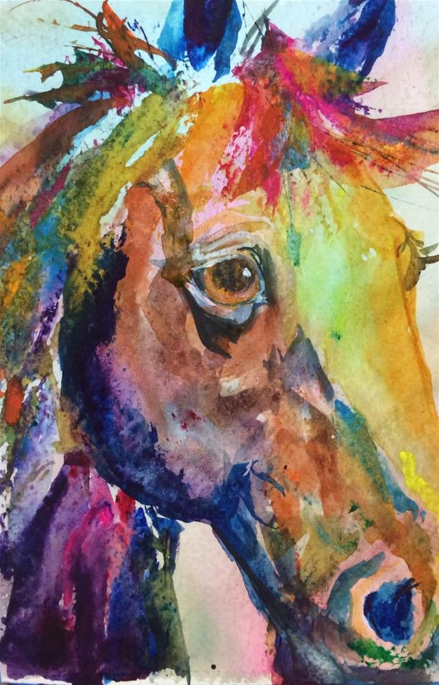 """Day 11 - Wild and Crazy!"" original fine art by Lyn Gill"