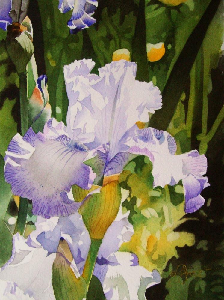 """A Spring Day in the Garden"" original fine art by Jacqueline Gnott, TWSA, WHS"
