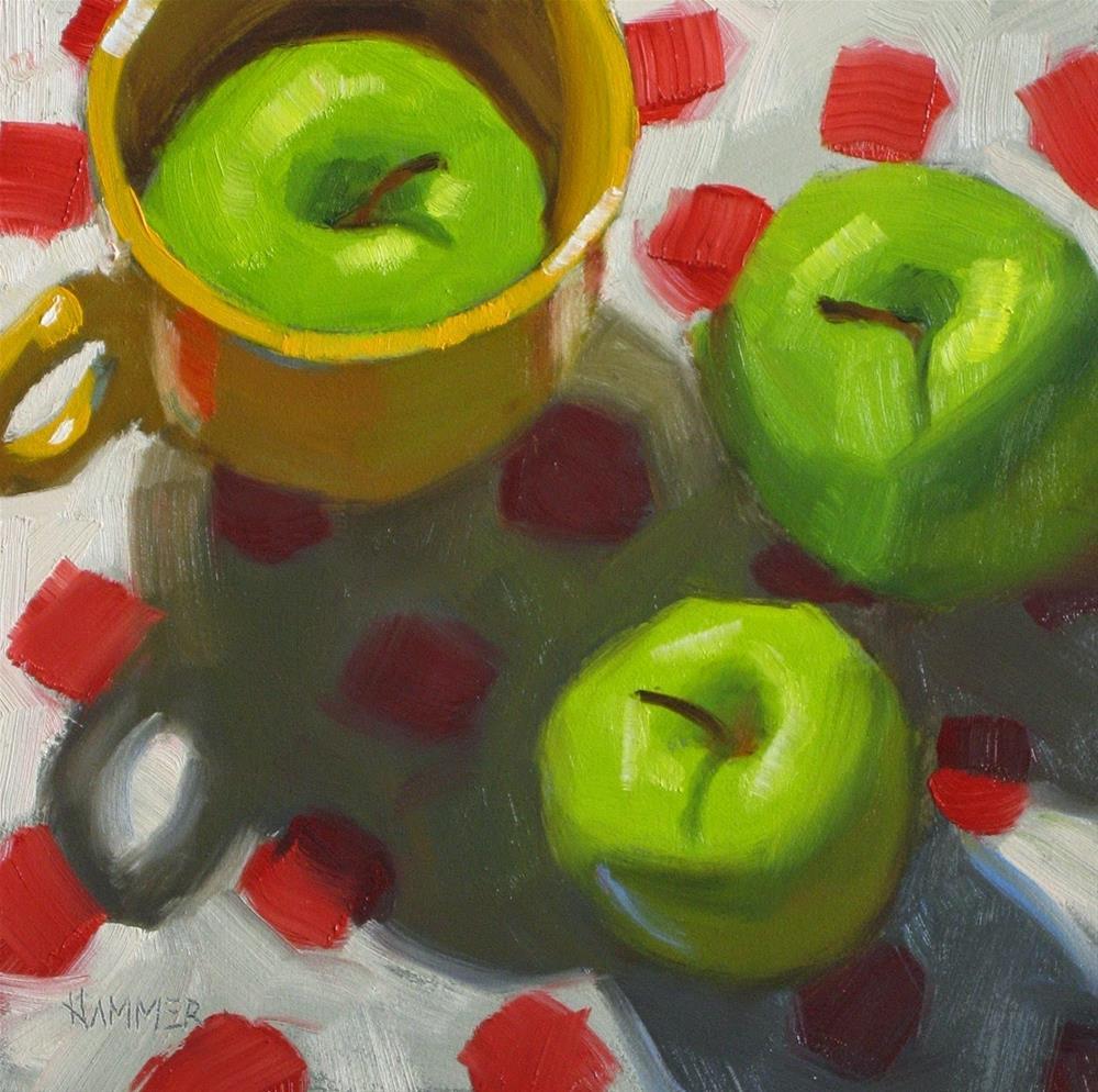 """Hiding 6 x 6  oil"" original fine art by Claudia Hammer"