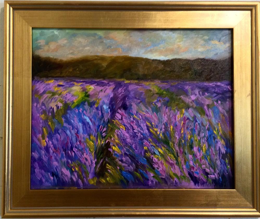 """Lupine fields"" original fine art by Ramya Sarveshwar"