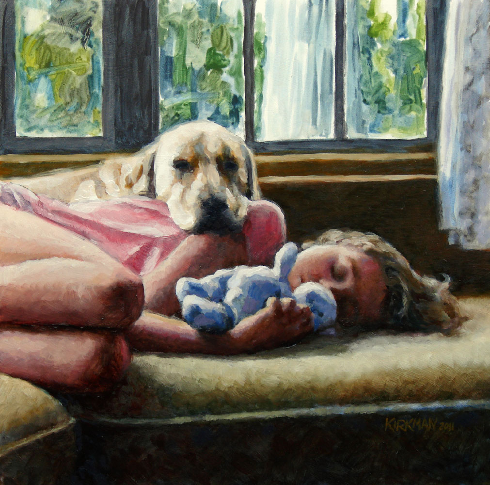 """Becca's Daughter - An Oil Portrait Commission"" original fine art by Rita Kirkman"