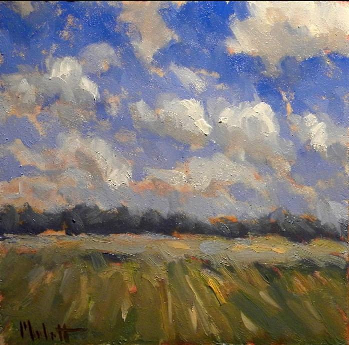 """Plein air Cloud Study Contemporary Impressionism"" original fine art by Heidi Malott"