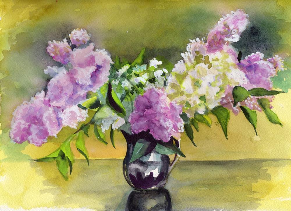 """Lilac Bouquet"" original fine art by Bunny Griffeth"