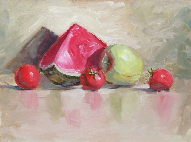 """Watermelon Slice"" original fine art by Dave Froude"