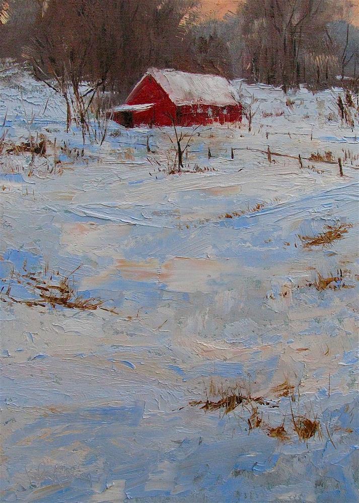 """Winter Eve"" original fine art by kay  keyes farrar"