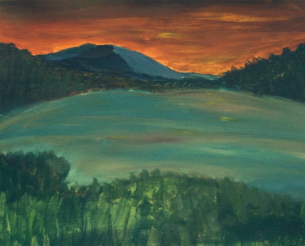 """Last Light"" original fine art by Brenda Smith"