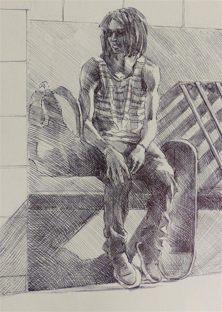 """500Faces-121"" original fine art by Katya Minkina"