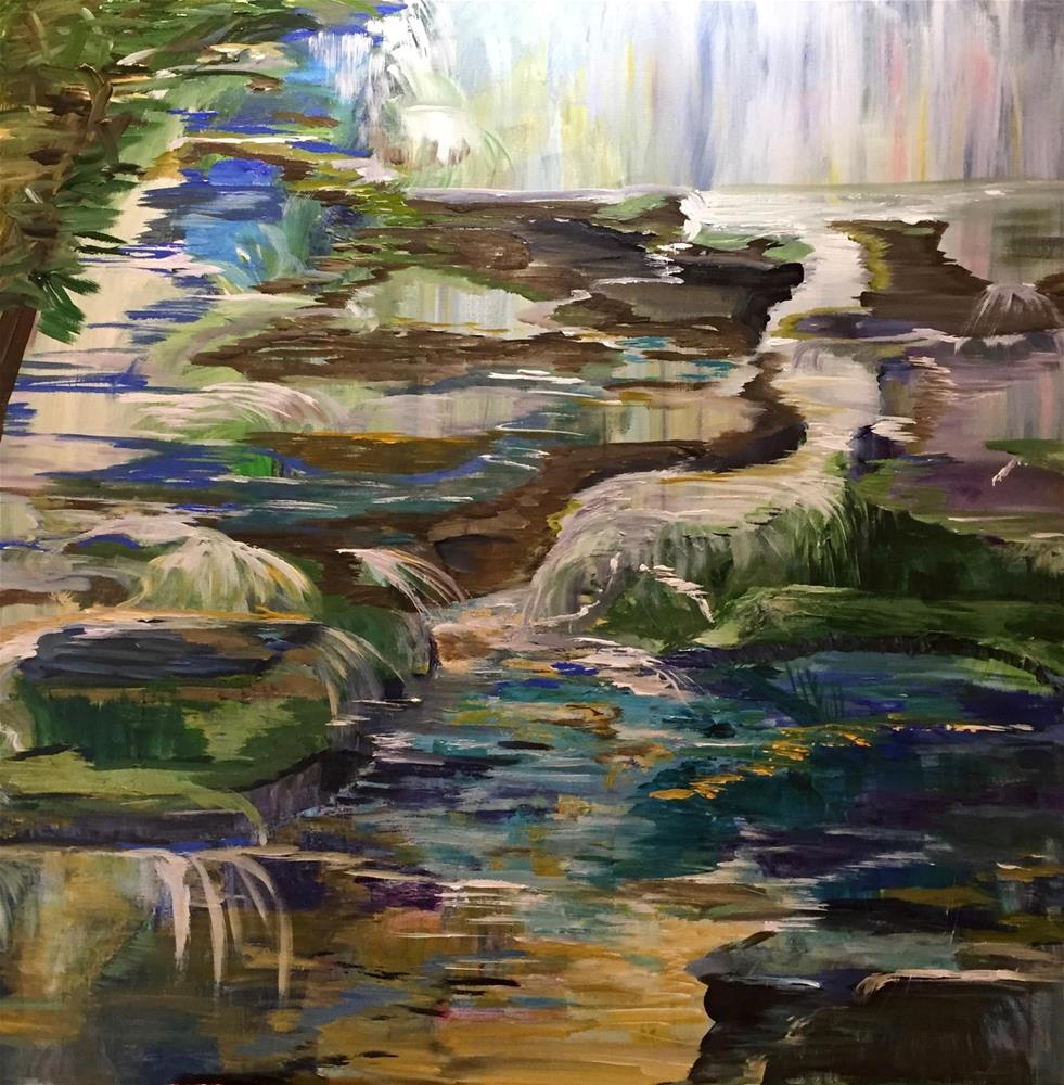 """Downstream"" original fine art by Yvonne Snead"