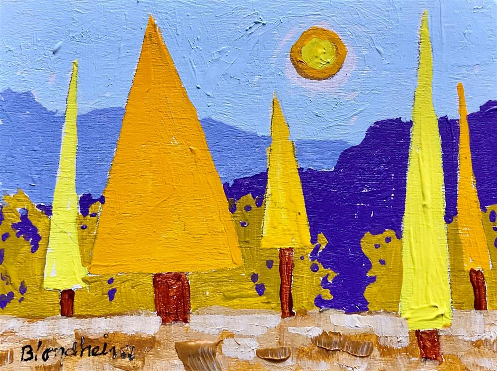 """Tree Toons Aspen Forest"" original fine art by Linda Blondheim"