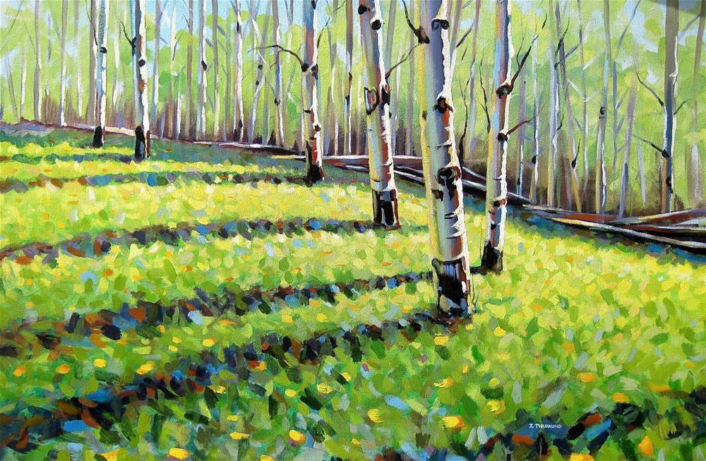 """Hinkle Hill Grove"" original fine art by Zack Thurmond"