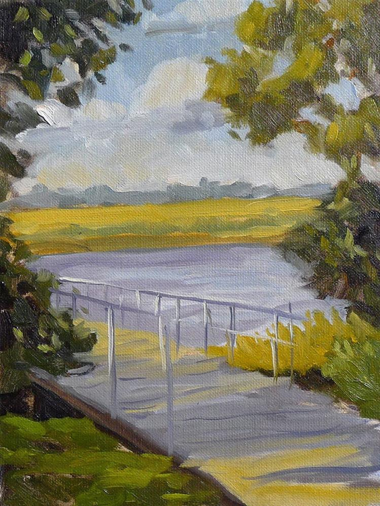"""Gascoigne Dock"" original fine art by Adam Houston"