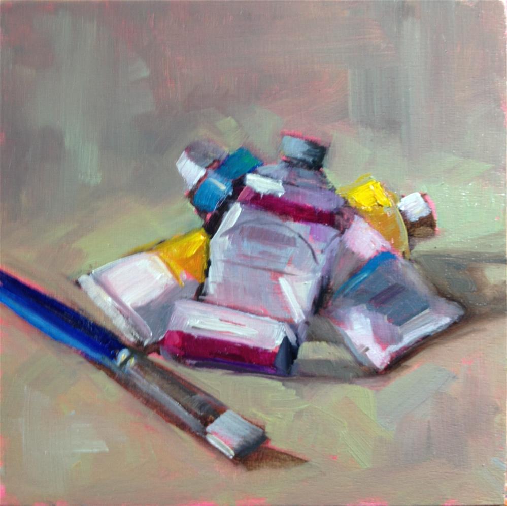 """Tertiary Colors"" original fine art by Carol Josefiak"