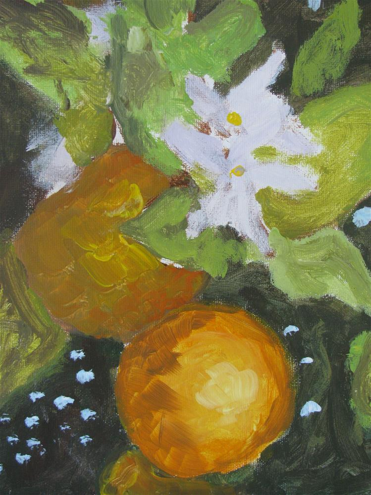 """Orange Blossoms"" original fine art by Susan Elizabeth Jones"