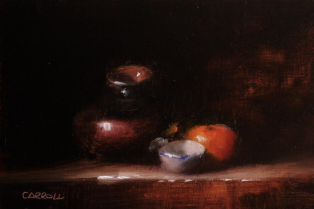 """""""White Finger Bowl"""" original fine art by Neil Carroll"""