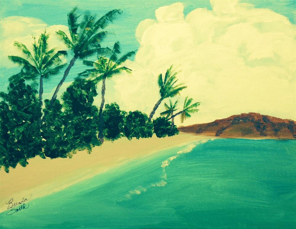 """Great Stirrup Cay"" original fine art by Brenda Smith"
