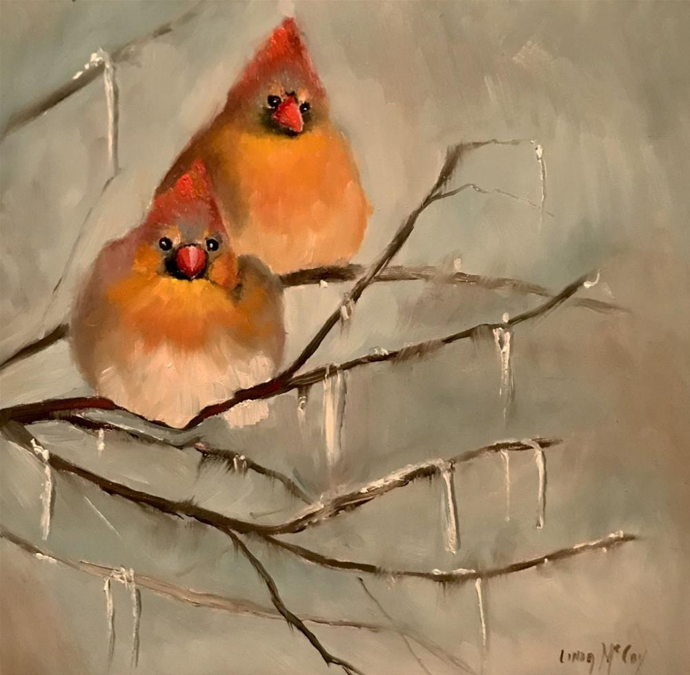"""Lucy and Ethel"" original fine art by Linda McCoy"