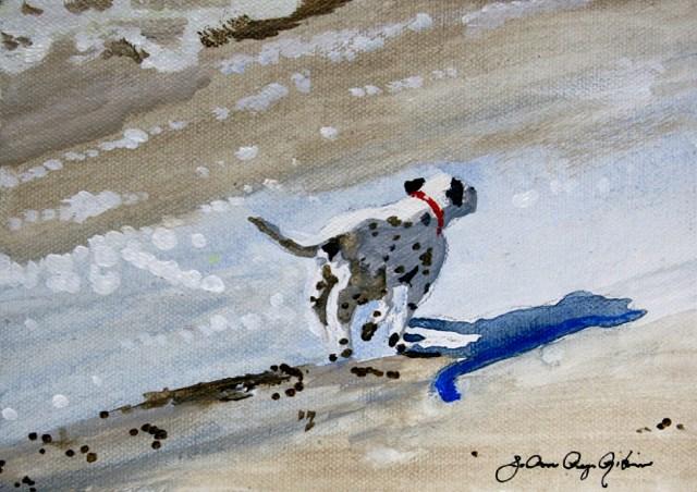 """Morning Jog"" original fine art by JoAnne Perez Robinson"