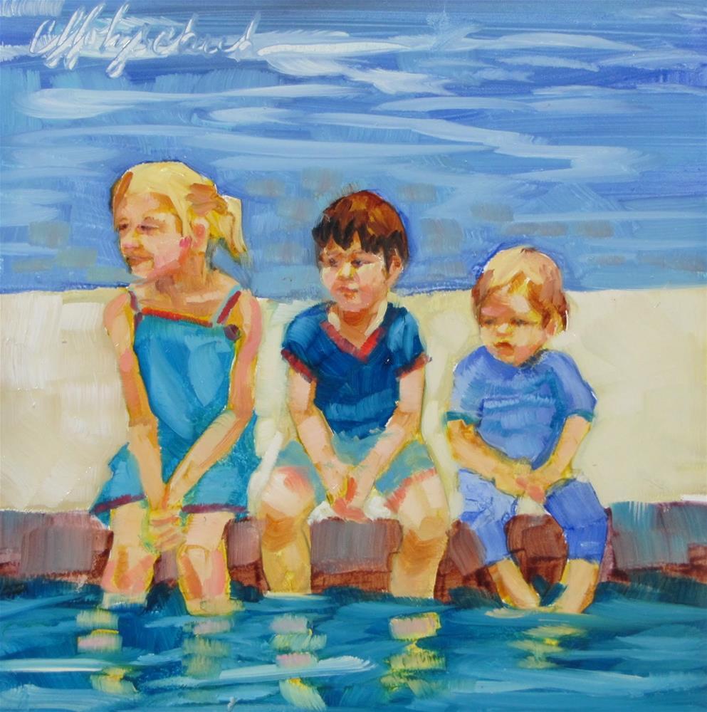 """Kate's Kids"" original fine art by Christine Holzschuh"