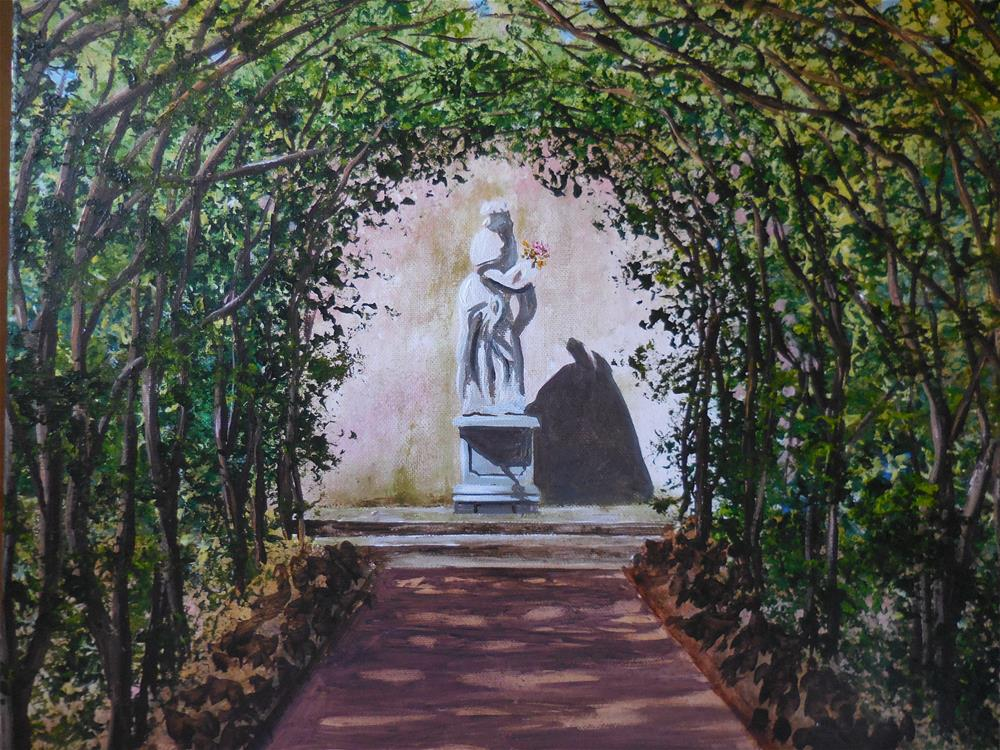 """The Pleached Allee"" original fine art by Terri Nicholson"