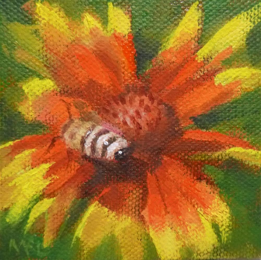 """Honey Bee"" original fine art by Marlene Lee"