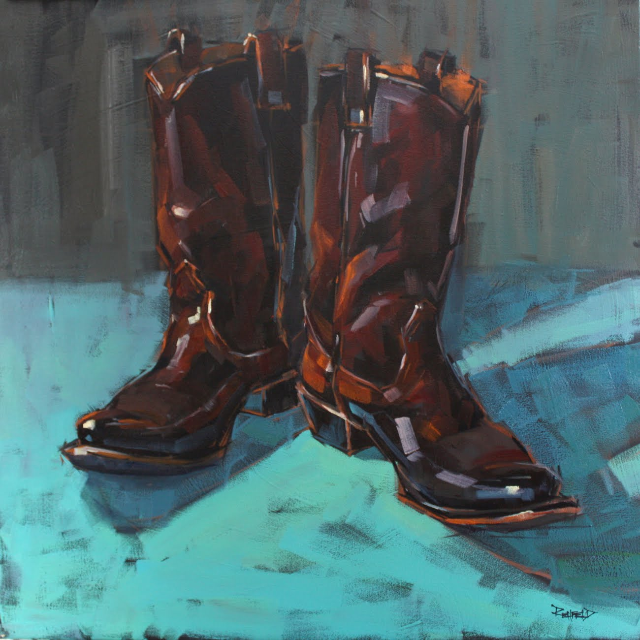 """Texas Boots"" original fine art by Cathleen Rehfeld"
