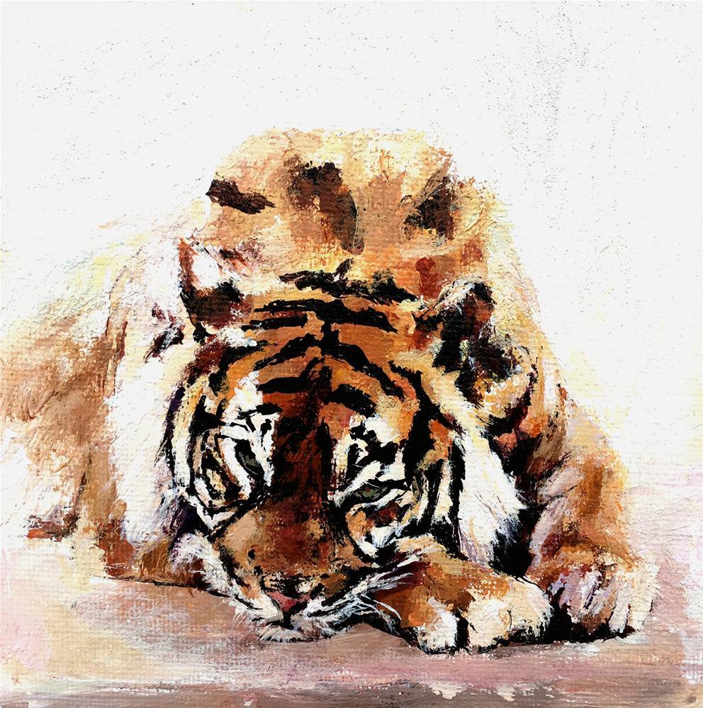 """""""Tiger"""" original fine art by Nava Judith"""