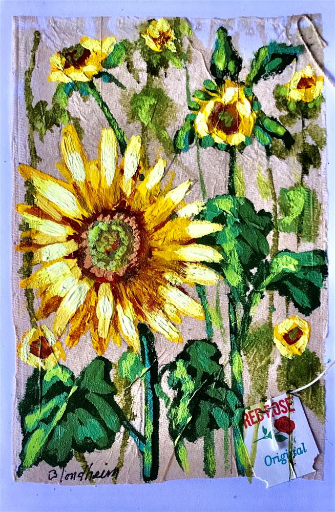 """Tea Bag Paintings"" original fine art by Linda Blondheim"