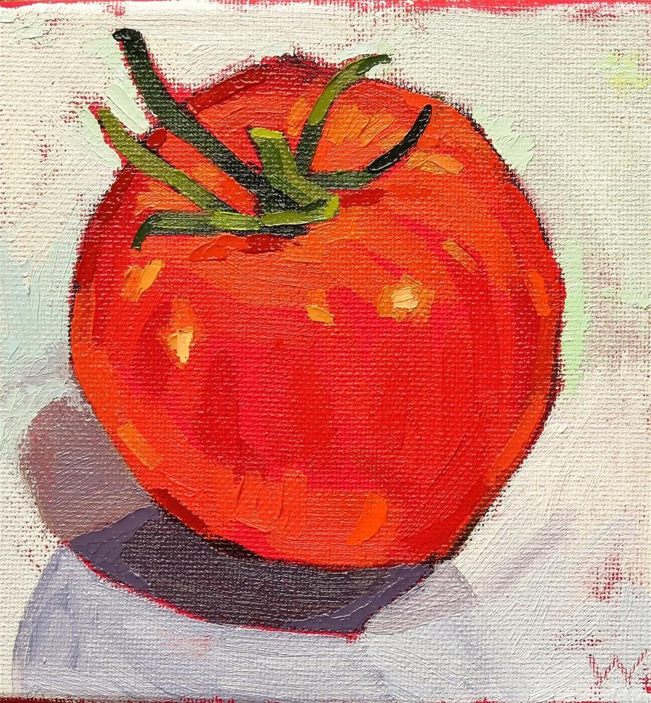 """Tomato Alone"" original fine art by Joan Wiberg"