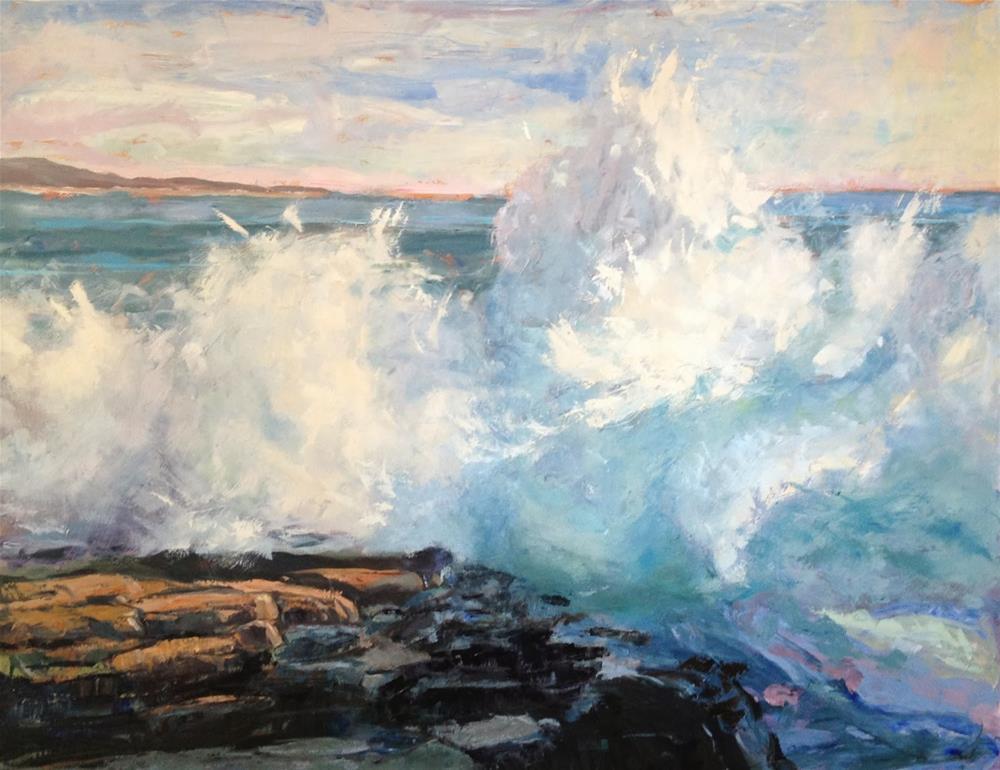 """Crashing"" original fine art by Deborah Newman"