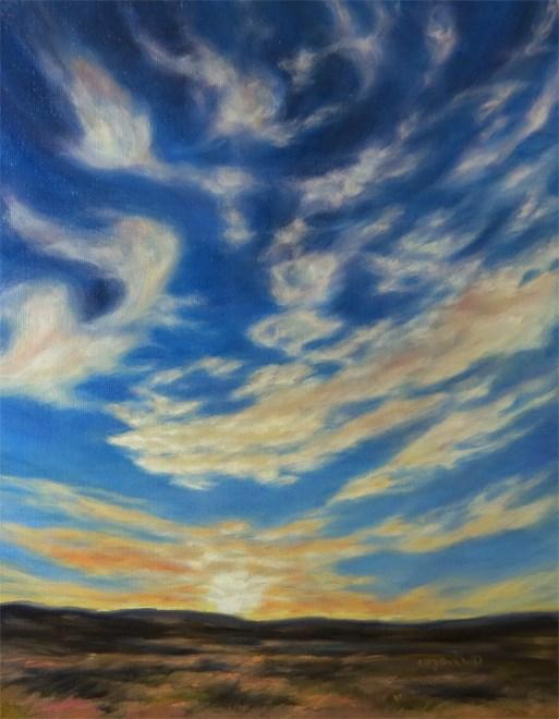 """""""Grand Farewell"""" original fine art by Carol Zirkle"""