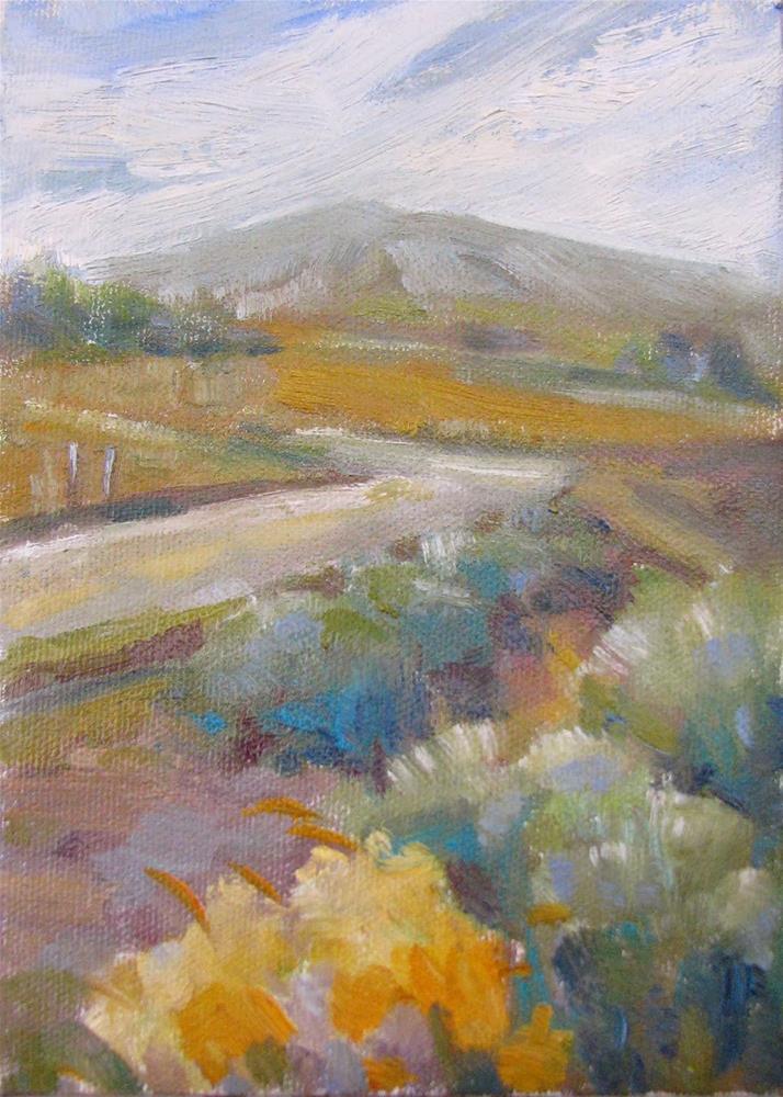 """Sage Land"" original fine art by Laura Gable"