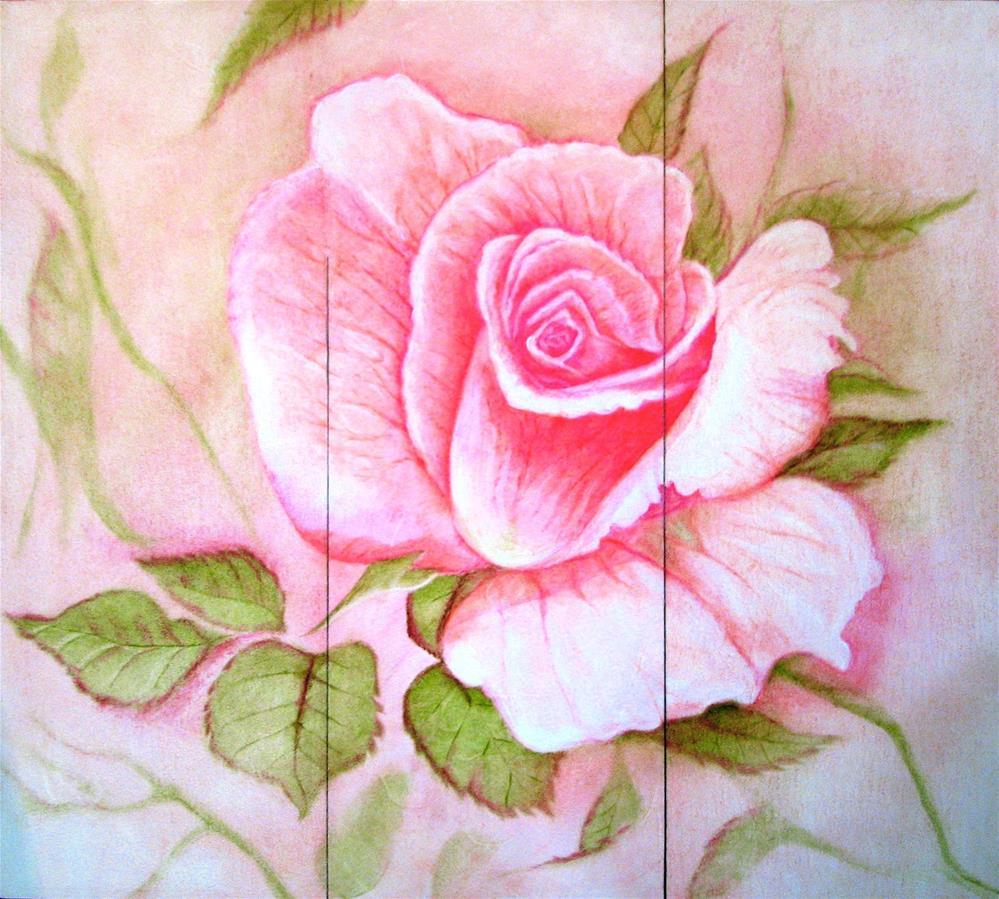 """""""The Rose"""" original fine art by Karen Roncari"""