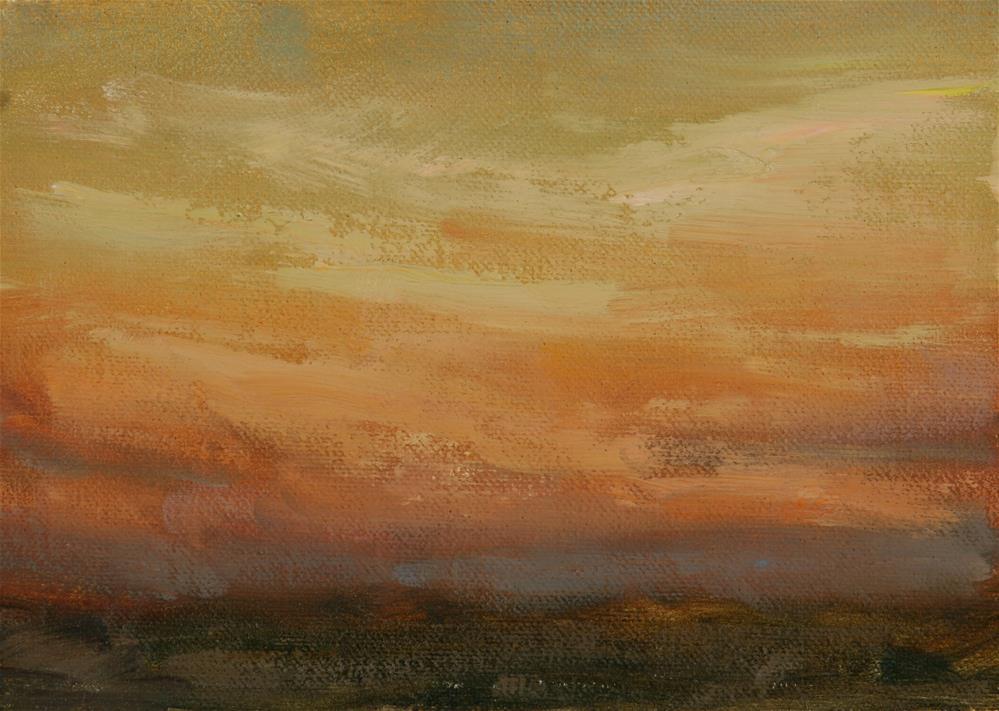 """Summer Sunrise 13"" original fine art by Scott Serafica"