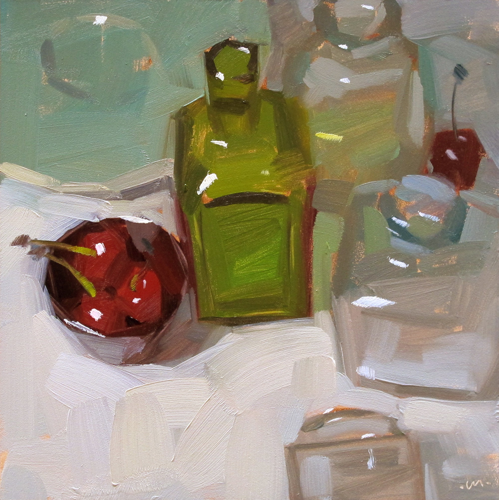 """Cherries Contained"" original fine art by Carol Marine"